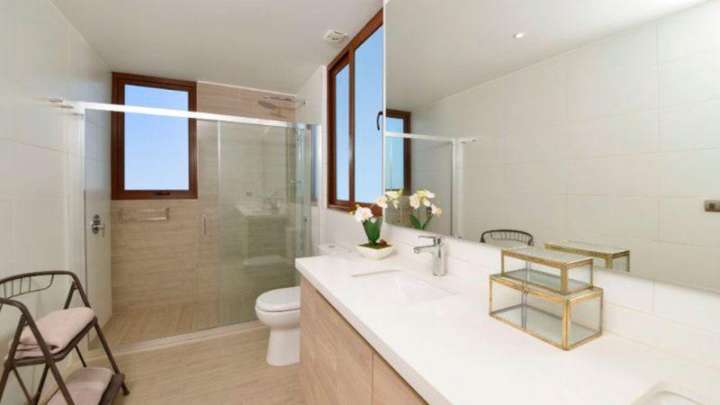 interior de baño